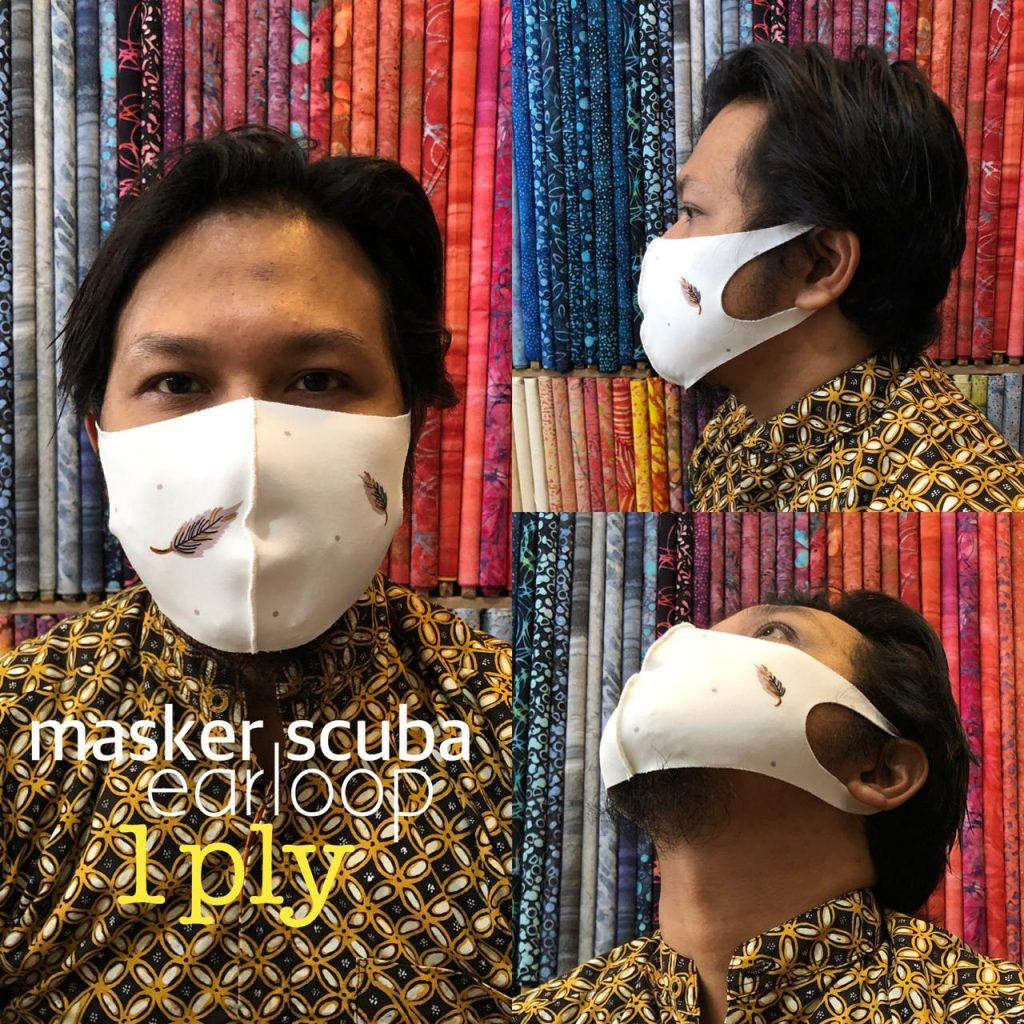 Grosir Masker Scuba Cikarang Harga Murah Bisa Custom Print Logo