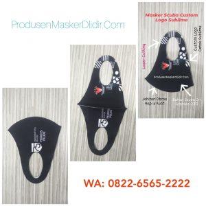 Masker Scuba Custom Logo Full Print Murah
