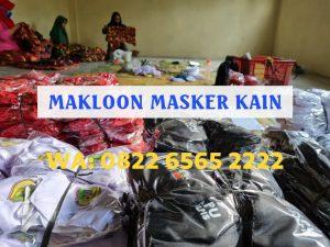 Pabrik Makloon Masker Kain Berkualitas WA: 0822-6565-2222