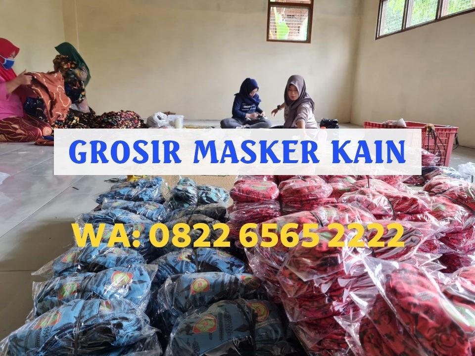 Grosir Masker Kain Jogja Harga Murah WA: 0822-6565-2222