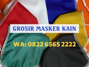 Konveksi Masker Kain 3 Ply Murah Terpercaya - WA: 0822-6565-2222